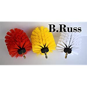 High Qlty Drill Brush, Rotary Brush Cleaning Kit, Set of 6 Brushes for Carpet, Car Mats and Tires, Tiles, Stone, Concrete, Bathroom, by B.Russ