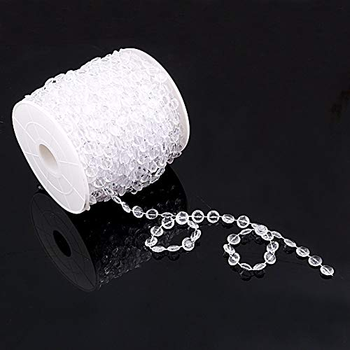 BlastCase 99 ft Clear Crystal Like Beads by the roll Wedding Decorations ()
