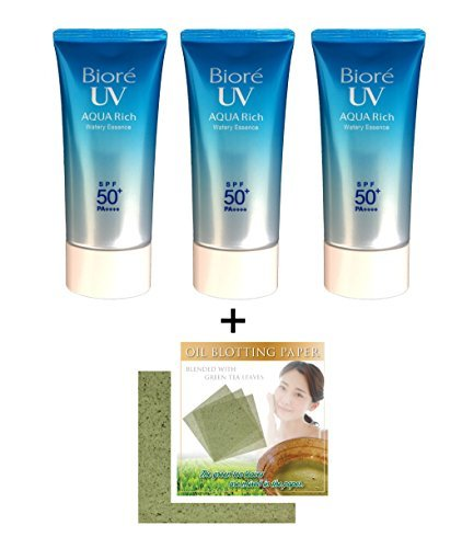 Biore UV Aqua Rich Watery Essence SPF50+/PA++++ (pack of 3)