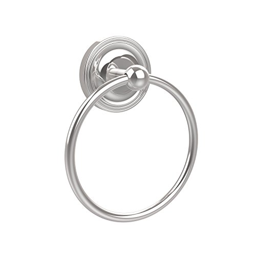 - Allied Brass R-16-PC Regal Collection Towel Ring, Polished Chrome