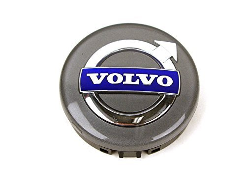 Volvo Genuine 31400452, Silver Center Wheel Cap