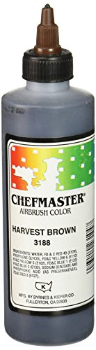 Chefmaster Airbrush Spray Food Color, 9-Ounce, Harvest Brown by Chefmaster