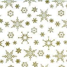 Carta Per Regali Natalizi Disegno Fiocchi Di Neve Oro Rotolo 20m X