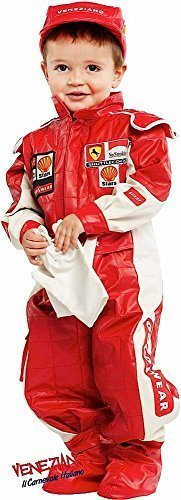 Deluxe Cars Costume - Italian Made Deluxe Baby Toddler Boys Girls Red Racing Driver Car Racer Sports Fancy Dress Costume Outfit 0-36 months (2 years)