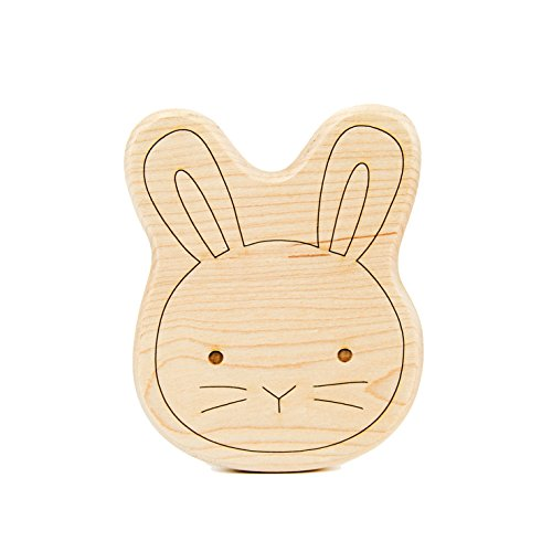 Modern Bunny (Little Sapling Toys Baby Teether Wooden Bunny)