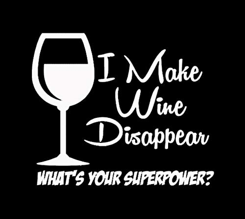 Makarios LLC I Make Wine Disappear Funy Cars Trucks Vans Walls Laptop MKR| White |5.5 x 4.5|MKR629 -
