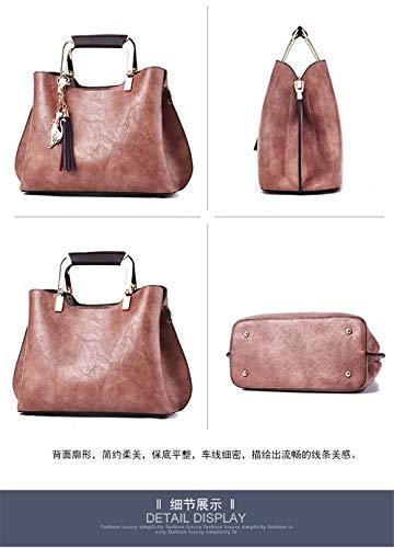 Bandolera para Mujer Personalidad Moda Gris Bolso Bandolera rosa Gxinyanlong q4gYn