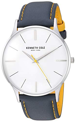 Kenneth Cole New York Men's Gift Set Stainless Steel Japanese-Quartz Watch with Leather Strap, Multi, 20 (Model: KC50918002)