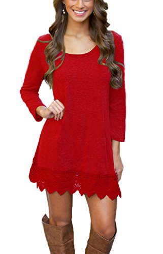 miyang-womens-long-sleeve-a-line-lace-stitching-trim-casual-dress-s-red