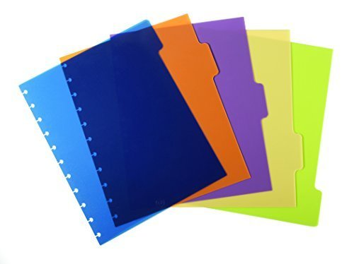 Staples  Arc Notebook Poly Index Dividers  Letter Sized  Assorted Colors  Set Of 5