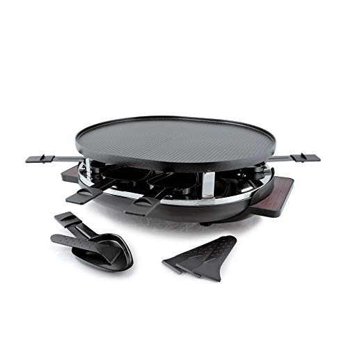 Swissmar Matterhorn 8 Person Raclette with Cast Aluminum Grill Top
