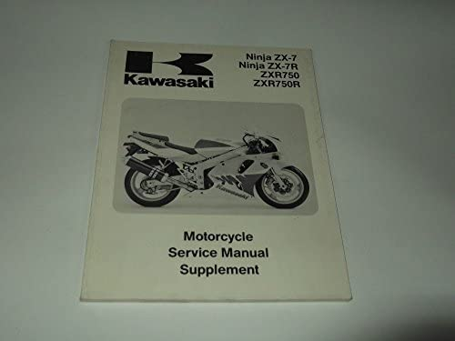 Service manual Supplement Kawasaki ZX-7/Ninja zx-7r/ZxR 750 ...