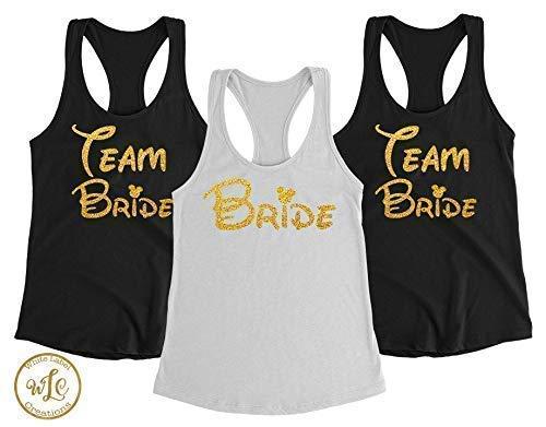 adcd4d905a733 Bachelorette Party Shirts - Bachelorette Party - Team Bride - Disney Bride  - Bachelorette Tanks - Bridal Party Shirts