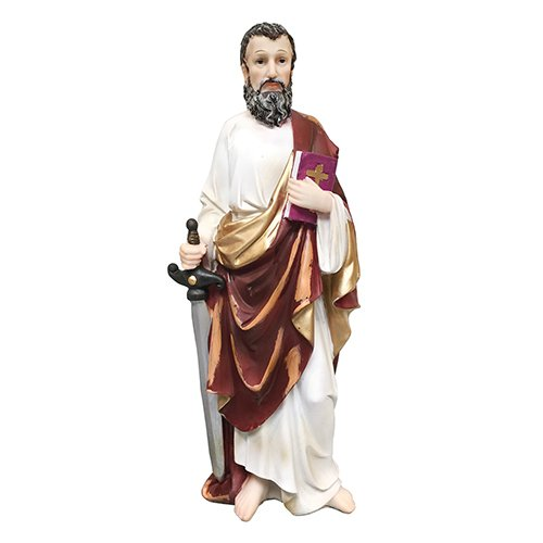 12 Inch Saint Paul Statue St. Paul Sculpture