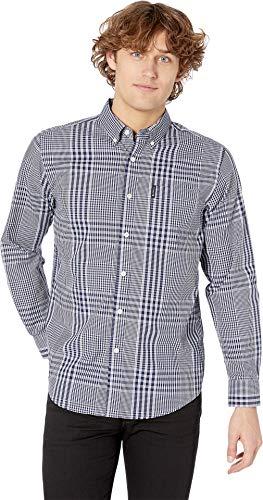 Ben Sherman Men's LS Plaid Shirt, Victoria Blue, L