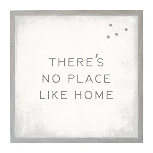Petal Lane Framed Magnetic Canvas Wall Art - Vintage Frame There's No Place Home Decor, 4 Magnets Included (16''x16'')