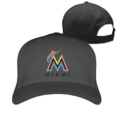CUG Miami Marlins Game Time Adjustable Solid Baseball Hat
