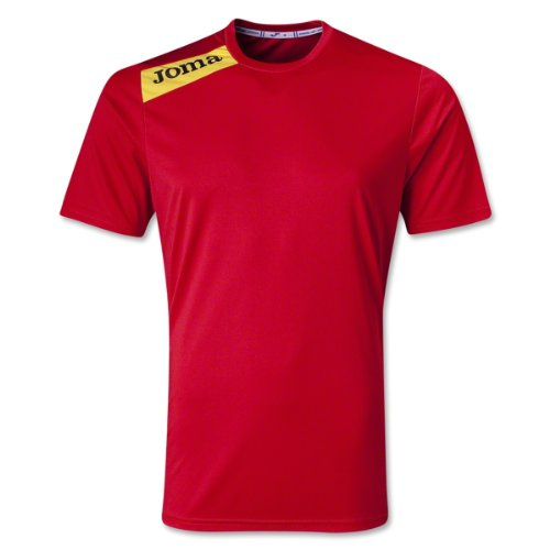 Joma Victory - Camiseta de manga corta para niños Multicolor (Rojo/Amarillo)