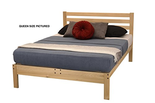 KD Frames Lexington Platform Bed, Queen, Unfinished