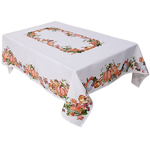 Simhomsen Thanksgiving Harvest Pumpkins Tablecloth