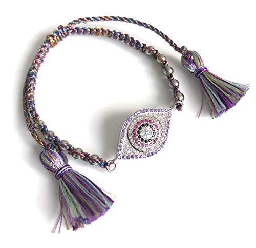- Evil Eye Big Size Purple Bracelet Lucky Charms Jewelry