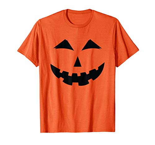 Halloween Pumpkin Face T-Shirt Jack-O-Lantern ()