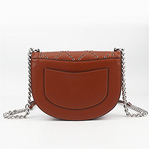 Sac Sac à Bag Shell bandoulière Brown Messenger chaîne Type bandoulière Simple Sac Loisirs rétro à qXCdqw