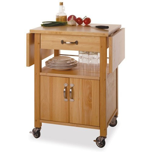 Kitchen Cart with Drop Leaf in Beech