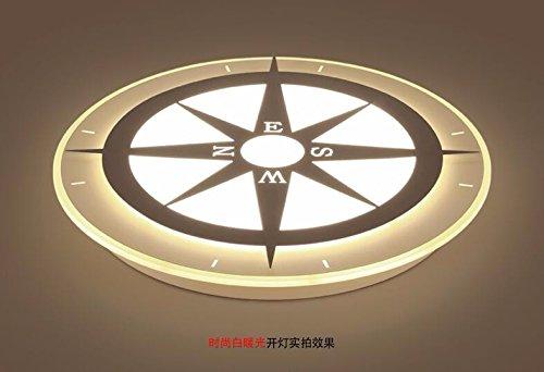 FGSGZ Deckenleuchte Rund Kompass Kinder Kinder Kreatives Licht Beleuchtung Weißer Rand Warmes Licht Durchmesser 42Cm [Energieklasse A++] FGSGZ Beleuchtung Fabrik