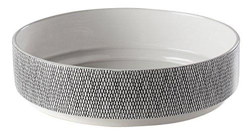 Torre & Tagus Bergen Weave White Ceramic Bowl ()