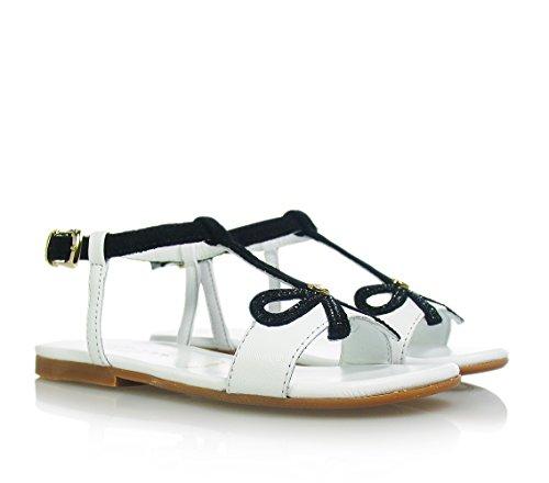 TWIN-SET - Sandale blanche/noire, filles,enfant