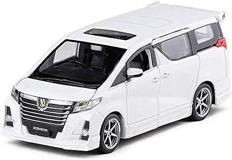 Toy Car, 1/32 Toyo-ta Elfa Diecast Sound & Light & Pull Back Modelo Toy Car, 6 Puertas Abiertas, Regalo de cumpleaños para niños (Color: Blanco): Amazon.es: Hogar