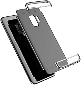 Shock resistant plastic rear cover for Samsung S9 Silver color
