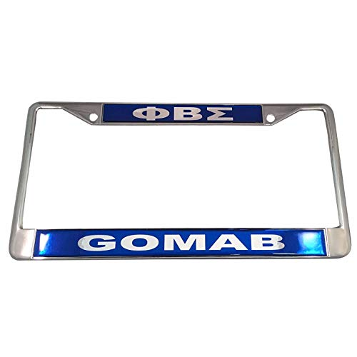 Desert Cactus Phi Beta Sigma Metal License Plate Frame for Front Back of Car (Metal - Call Tag)