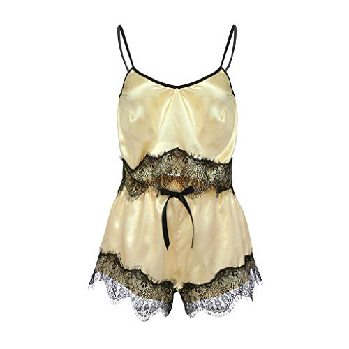 692226ef8b Plus Size Women Lace Sexy Passion Lingerie Ladies Satin Sling Lingerie  Babydoll Nightwear Sleepdress 2pcs (