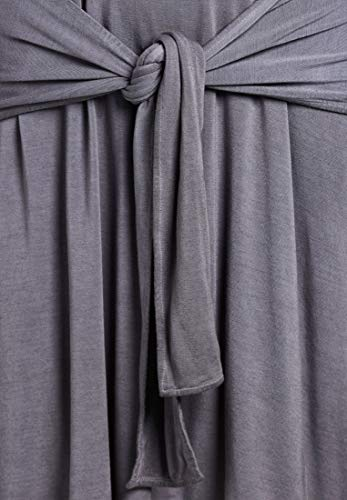 Manches Crayon Robe Longues Femme Gris Khujo UqEPq