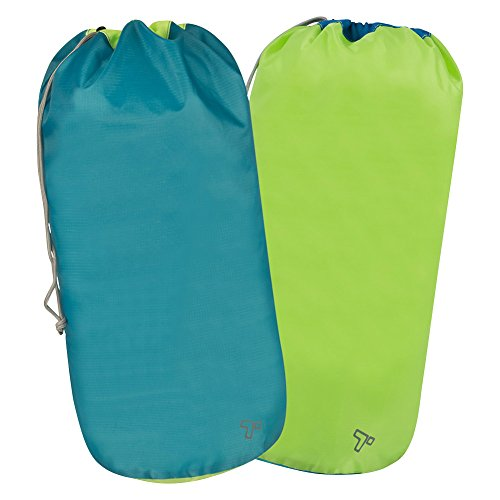 Travelon Set Of 2 Ripstop Pack Sacks, Blue, One Size