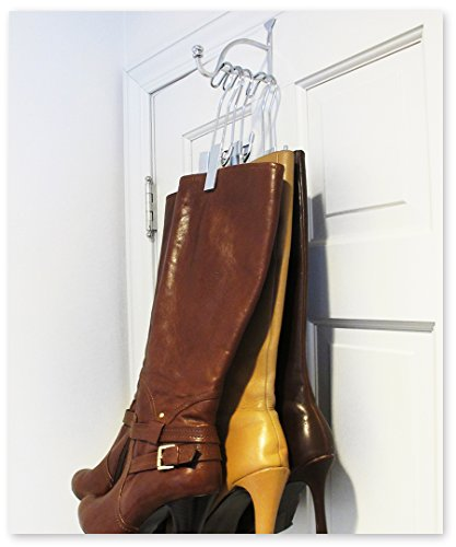 Over the Door Boot Valet (With 3 Silver Hangers)