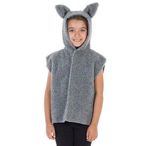 Charlie Crow Fur Wolf Costume for Kids One Size 3-9 Years