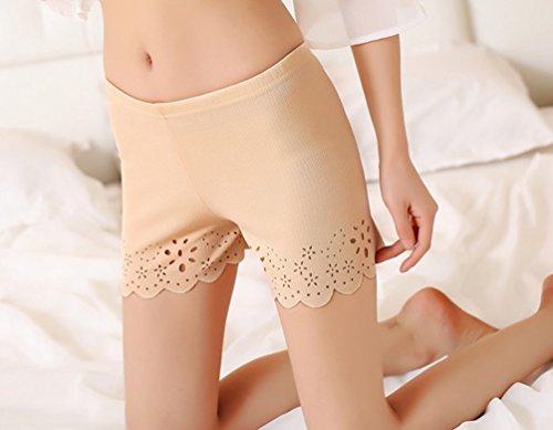 Beige Confortevole Culotte Donna Mutande Shorts Pantaloncini 1 Motivo Intimo Boyshort Floreale Yiiquan Morbido Mutandine wg7ZCxaUCq