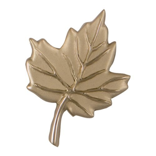 Maple Leaf Doorbell Ringer - Nickel Silver by Michael Healy Designs (Leaf Doorbell Ringer)