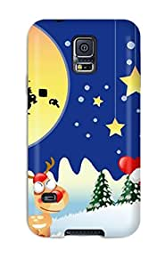 S5 Scratch-proof Protection Case Cover For Galaxy/ Hot Holiday Christmas Phone Case
