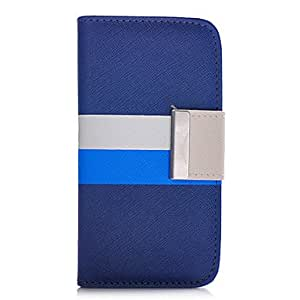 xiao Blue Colorful Leather Wallet Flip Leather Case for iphone 4/4S , Purple