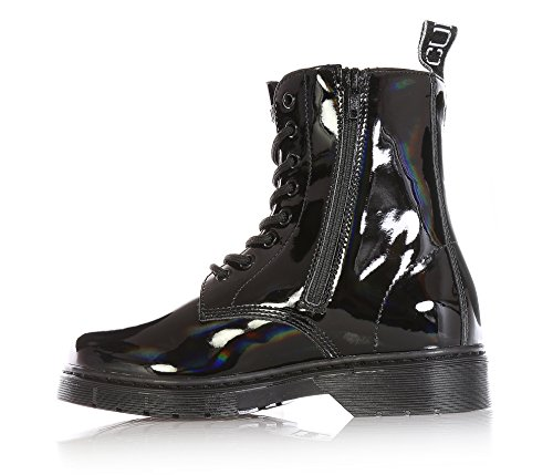 girls CULT made child paint waterproof girl woman lace boot of up Black TZxqrT