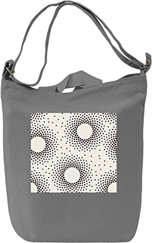 Circles Pattern Borsa Giornaliera Canvas Canvas Day Bag| 100% Premium Cotton Canvas| DTG Printing|