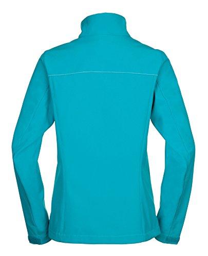 VAUDE Jacke Women's Cyclone Jacket IV - Cortavientos para mujer, color turquesa, talla 48