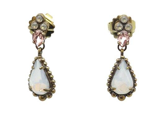 Sorrelli Jewel Tone Alyssum Purple & Blue Antique Goldtone Post Dangle (Sorrelli Designer Earrings)