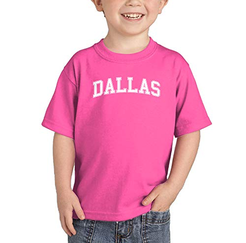 HAASE UNLIMITED Dallas - State Proud Strong Pride Infant/Toddler Cotton Jersey T-Shirt (Pink, 5T)