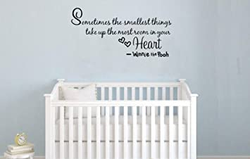 Nursery Wall Decor Quote Decal Winnie The Pooh Wall Saying U0026quot;Sometimes  The Smallest Things