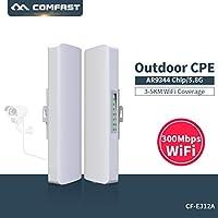 COMFAST 300Mbps 5.8Ghz WiFi Extension Répéteur Routeur de Extérieur Pont de Réseau CPE WiFi Transmission sans Fil pour Longue Portée 1PIC (CF-E312AV2)